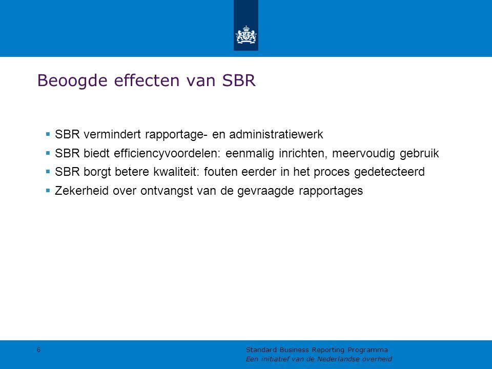 Beoogde effecten van SBR