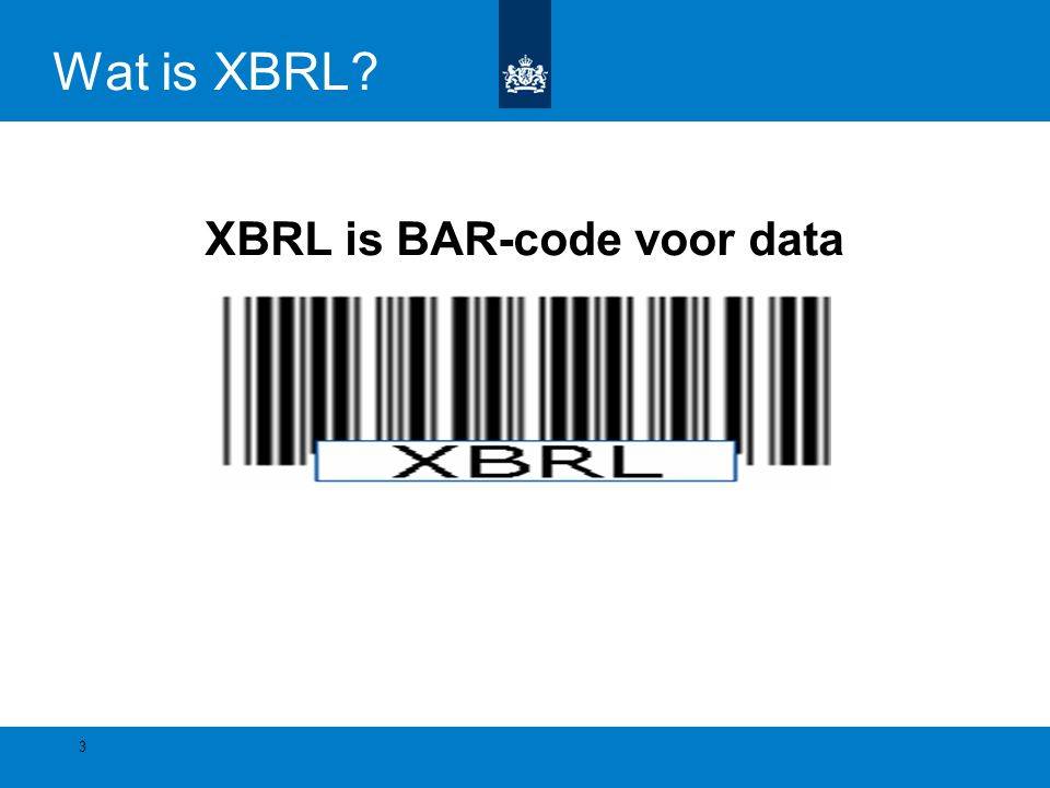 XBRL is BAR-code voor data