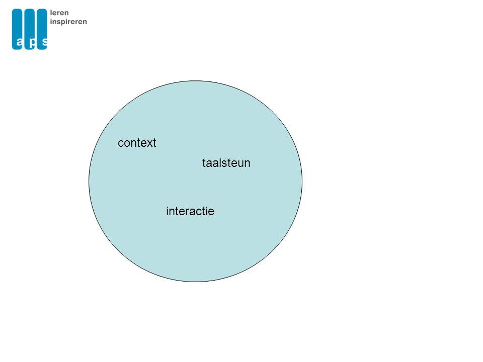 context taalsteun interactie