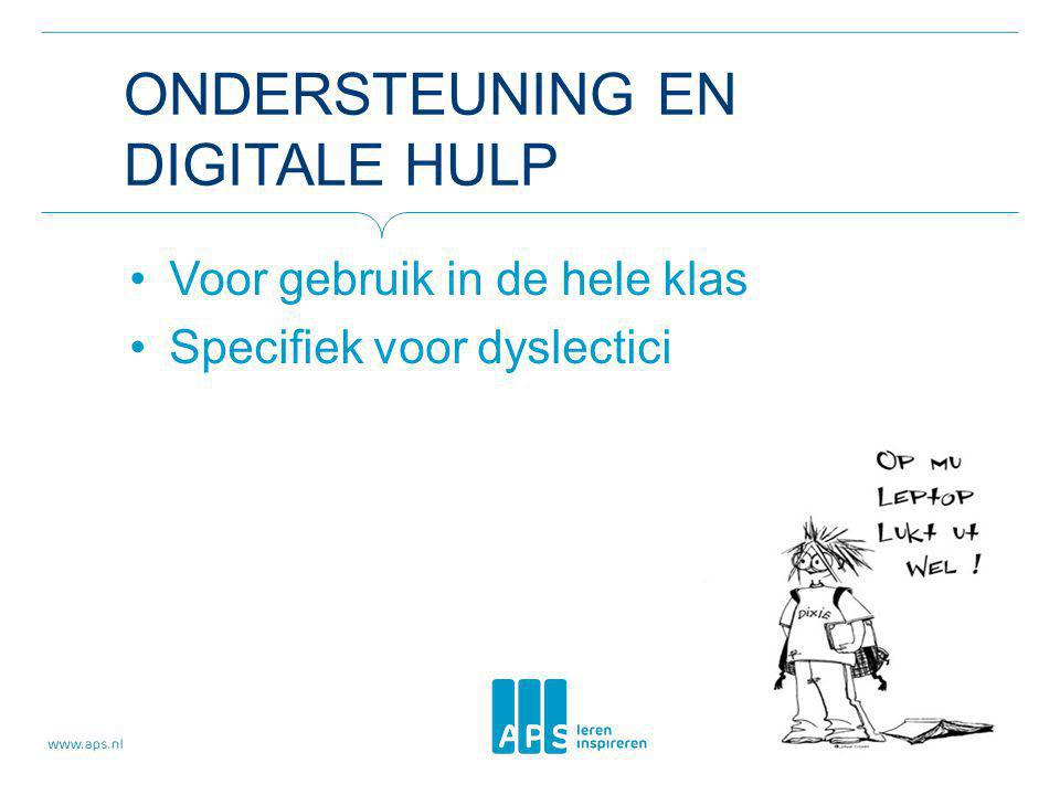Ondersteuning en digitale hulp