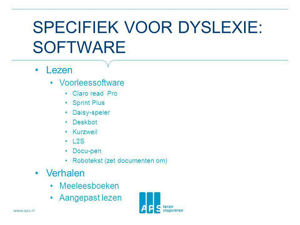 Specifiek voor dyslexie: software