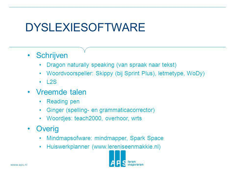 Dyslexiesoftware Schrijven Vreemde talen Overig