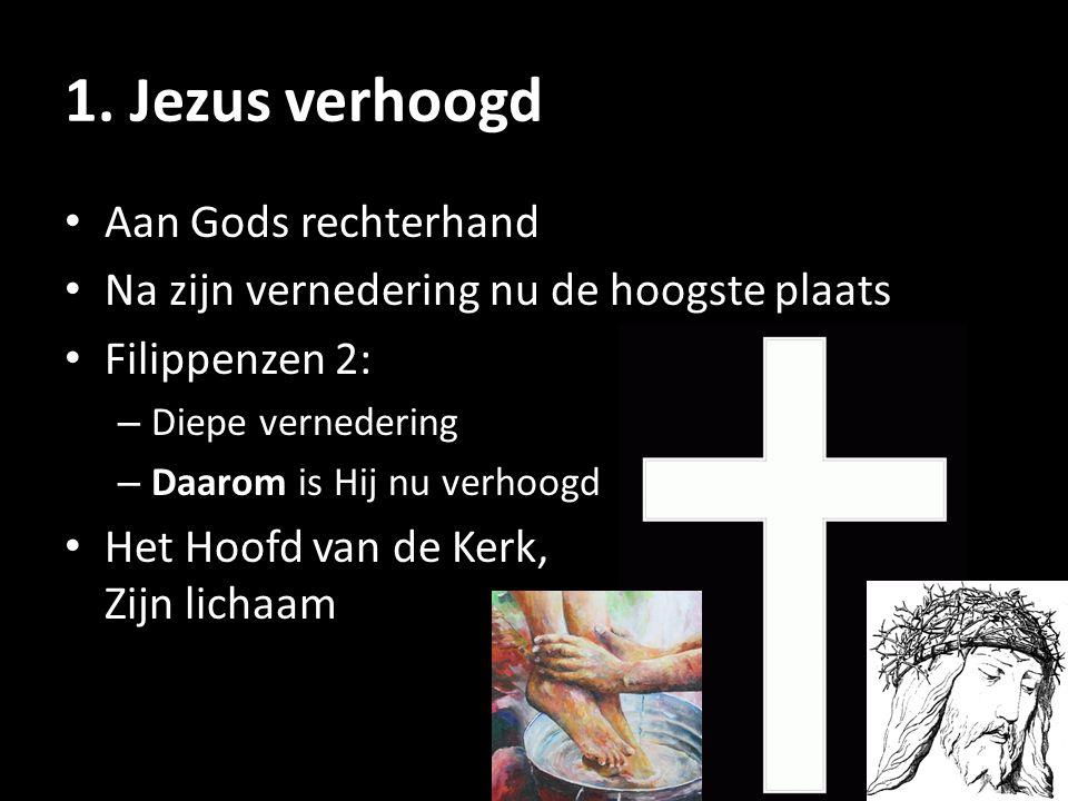 1. Jezus verhoogd Aan Gods rechterhand