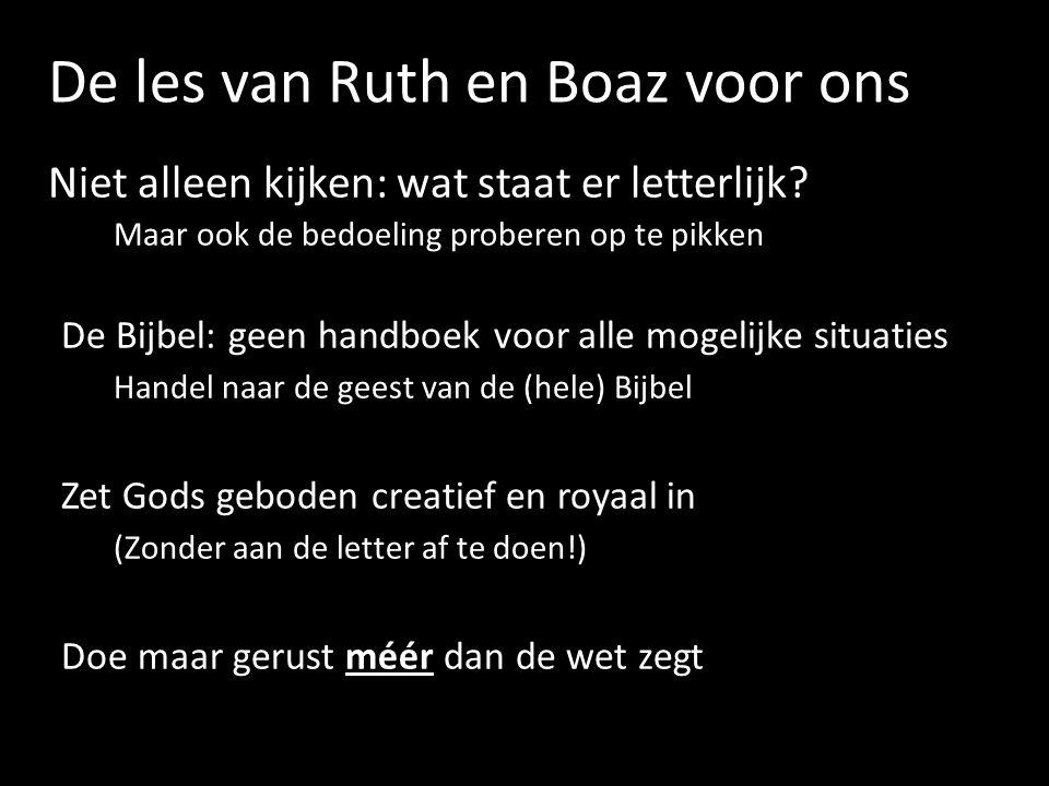 De les van Ruth en Boaz voor ons
