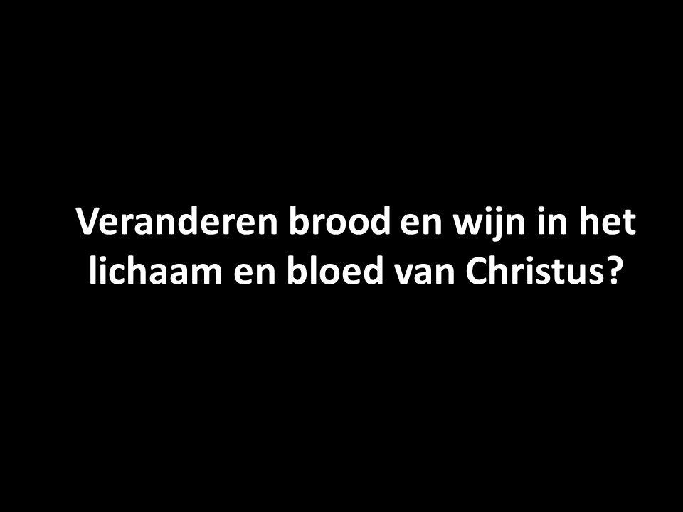 Veranderen brood en wijn in het lichaam en bloed van Christus