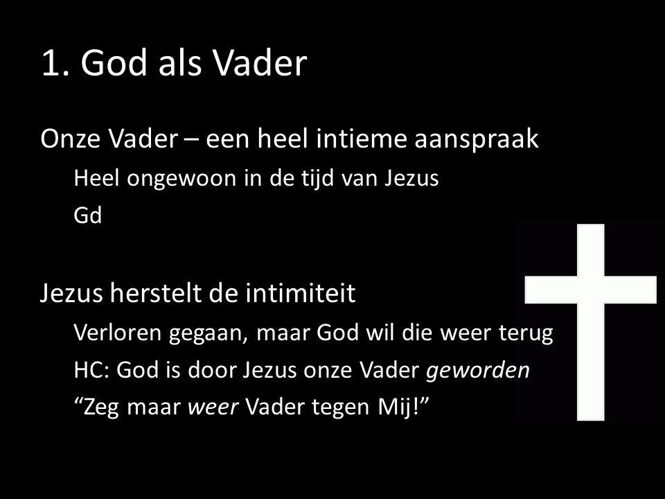 1. God als Vader Onze Vader – een heel intieme aanspraak