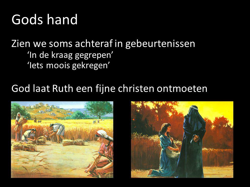 Gods hand Zien we soms achteraf in gebeurtenissen