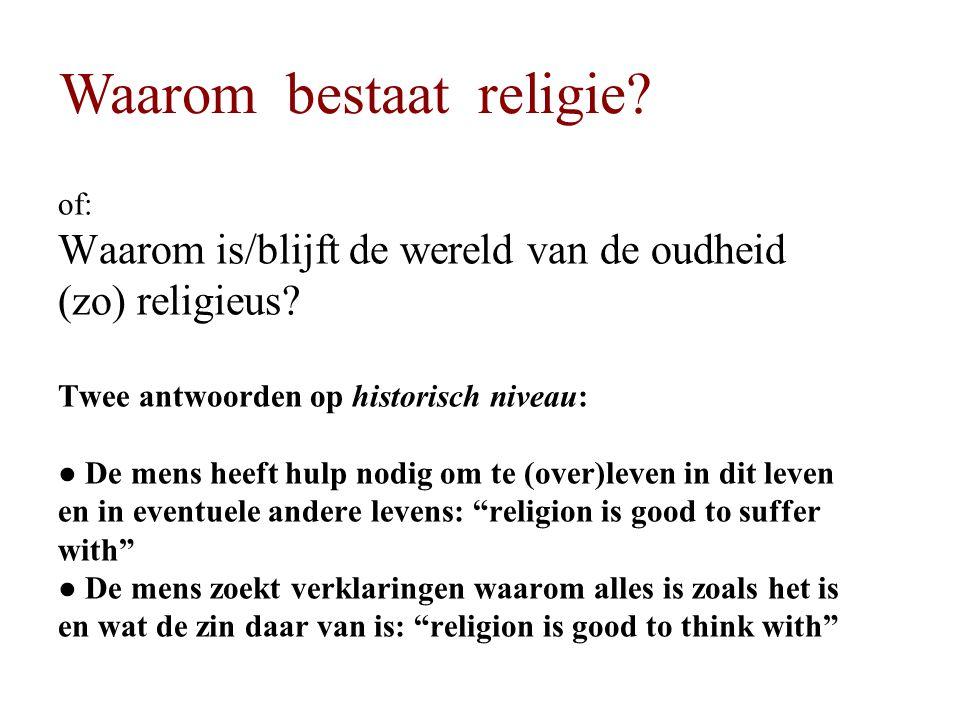 Waarom bestaat religie