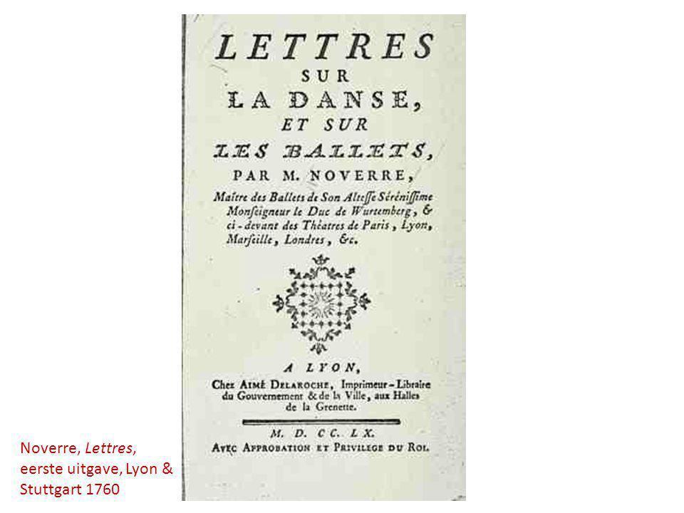Noverre, Lettres, eerste uitgave, Lyon & Stuttgart 1760
