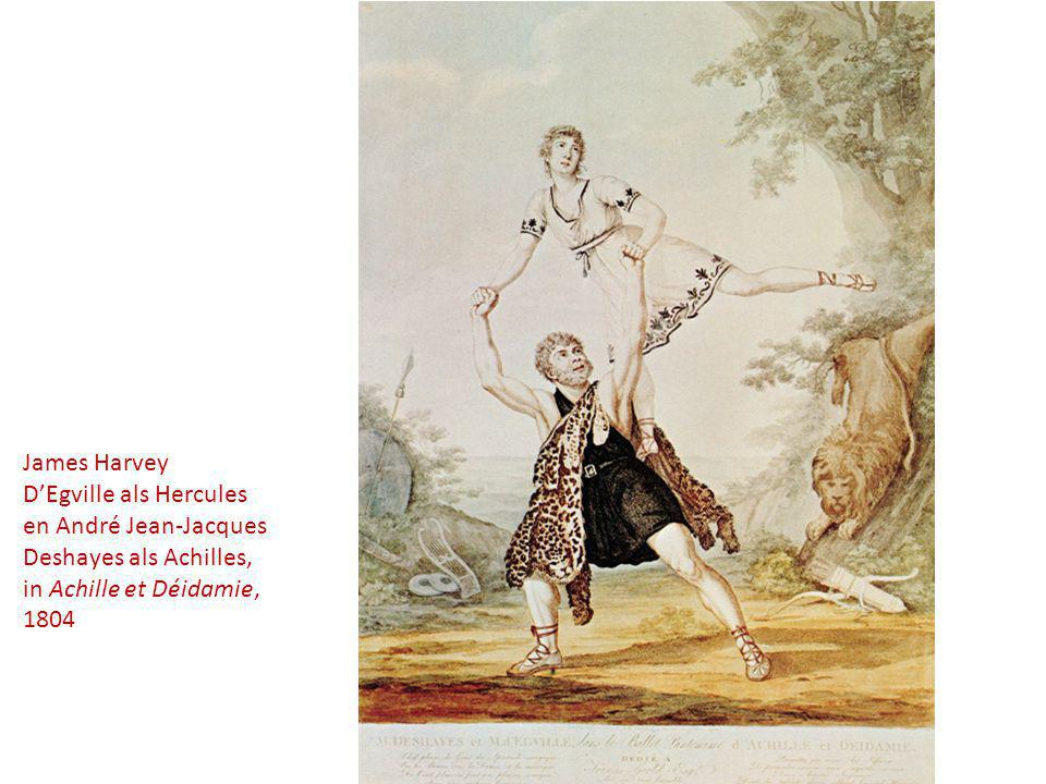 James Harvey D'Egville als Hercules. en André Jean-Jacques. Deshayes als Achilles, in Achille et Déidamie,