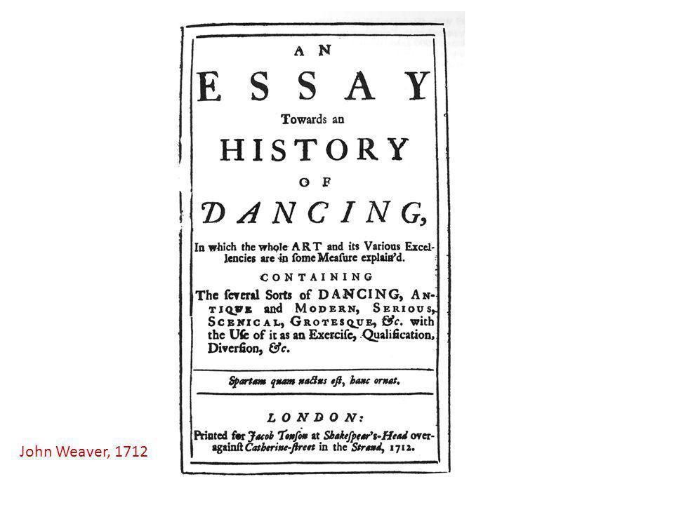 John Weaver, 1712