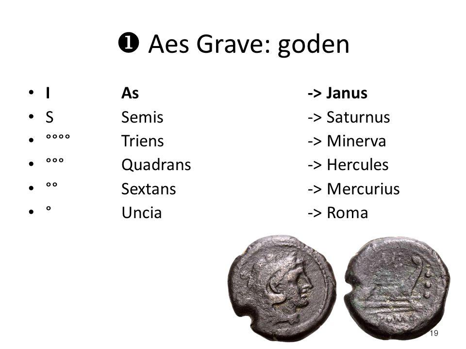 Aes Grave: goden I As -> Janus S Semis -> Saturnus
