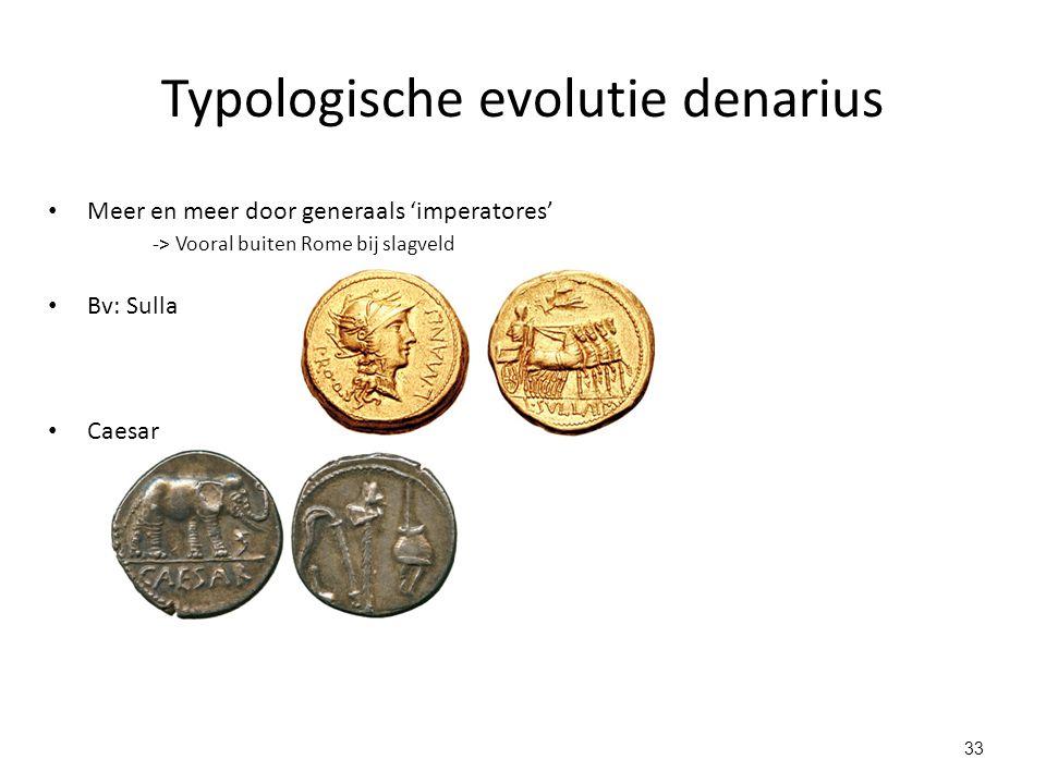 Typologische evolutie denarius