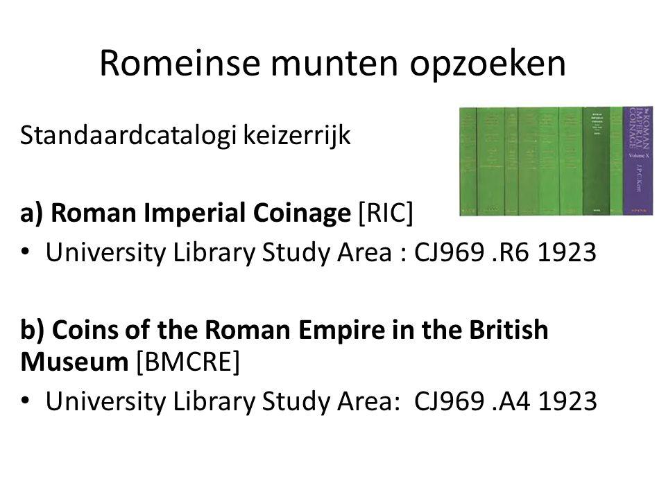 Romeinse munten opzoeken
