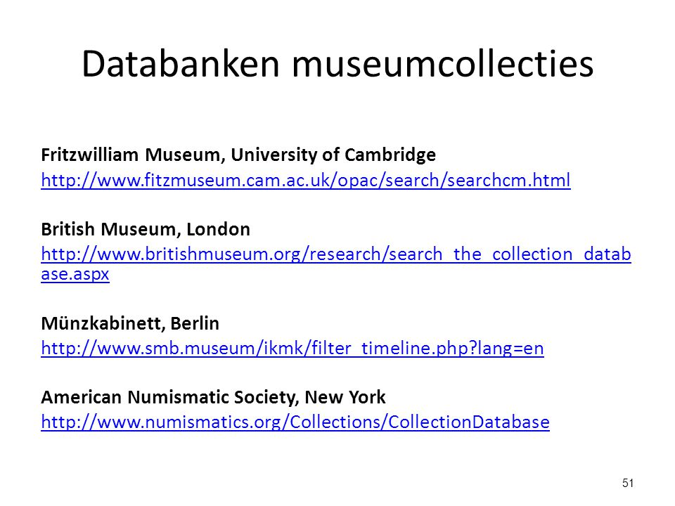 Databanken museumcollecties
