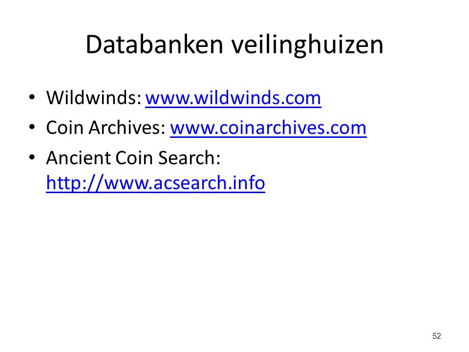 Databanken veilinghuizen