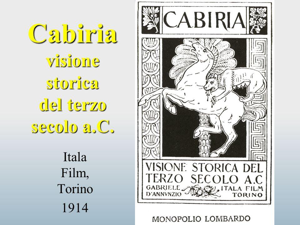 Cabiria visione storica del terzo secolo a.C.