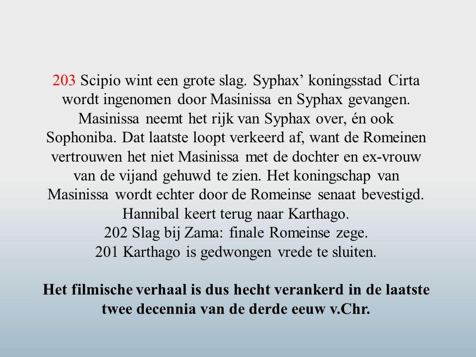 202 Slag bij Zama: finale Romeinse zege.