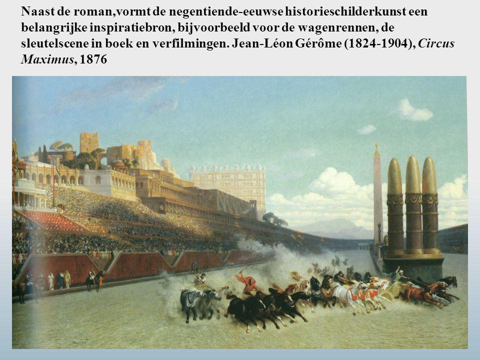 Naast de roman,vormt de negentiende-eeuwse historieschilderkunst een belangrijke inspiratiebron, bijvoorbeeld voor de wagenrennen, de sleutelscene in boek en verfilmingen.