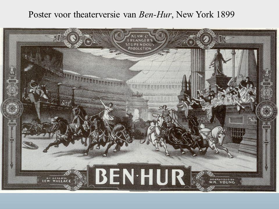 Poster voor theaterversie van Ben-Hur, New York 1899