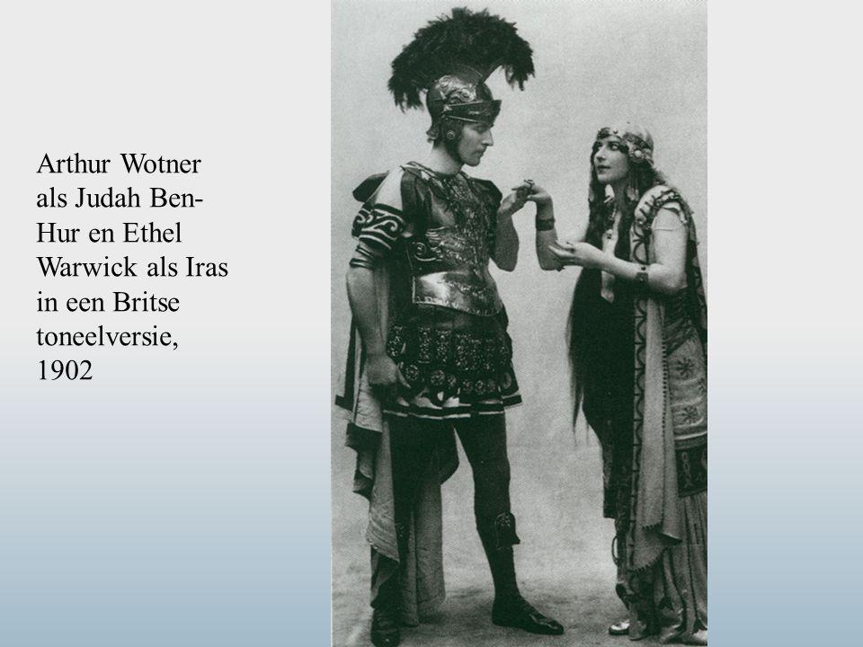 Arthur Wotner als Judah Ben-Hur en Ethel Warwick als Iras in een Britse toneelversie, 1902