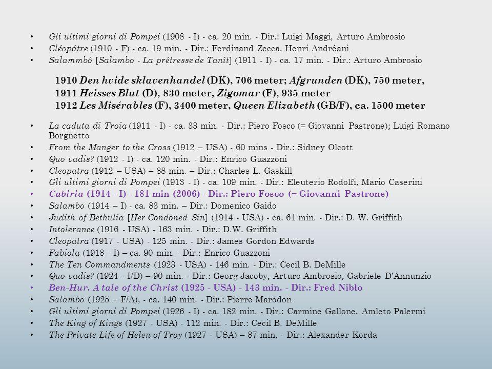 1911 Heisses Blut (D), 830 meter, Zigomar (F), 935 meter