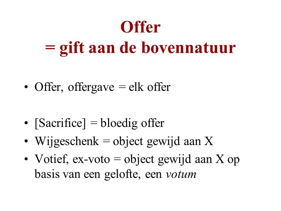 Offer = gift aan de bovennatuur