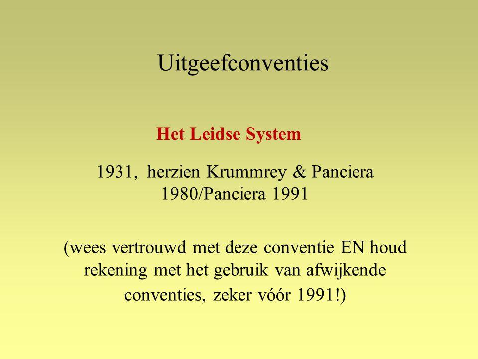 1931, herzien Krummrey & Panciera 1980/Panciera 1991