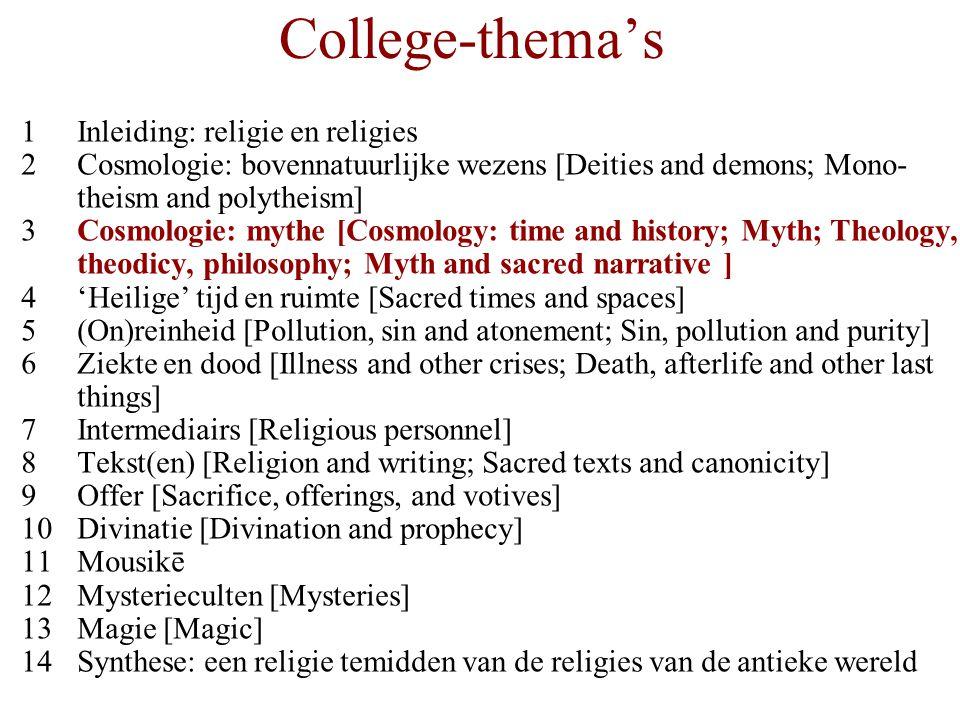 College-thema's 1 Inleiding: religie en religies