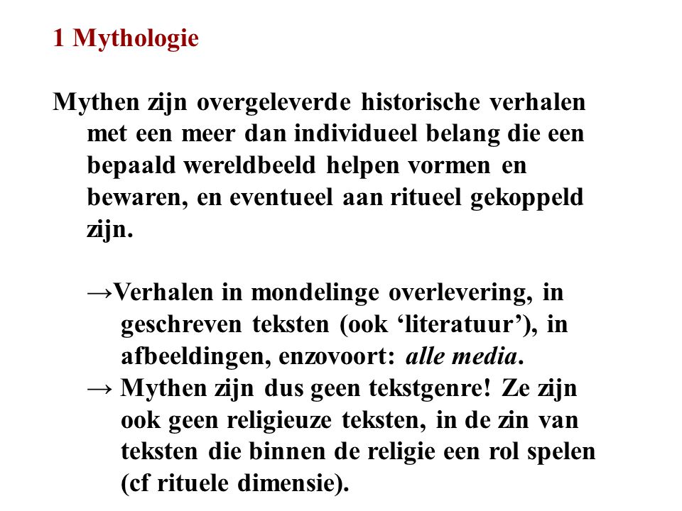 1 Mythologie