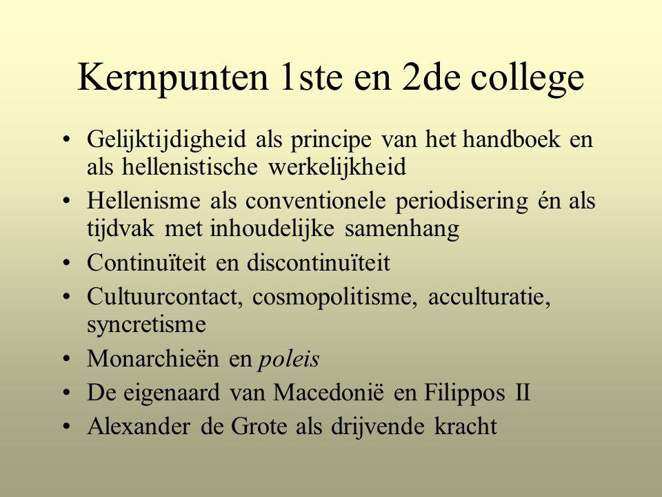 Kernpunten 1ste en 2de college