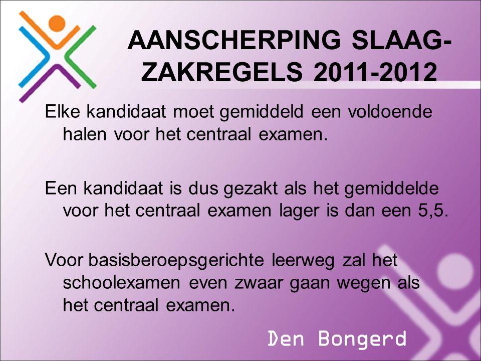 AANSCHERPING SLAAG-ZAKREGELS 2011-2012