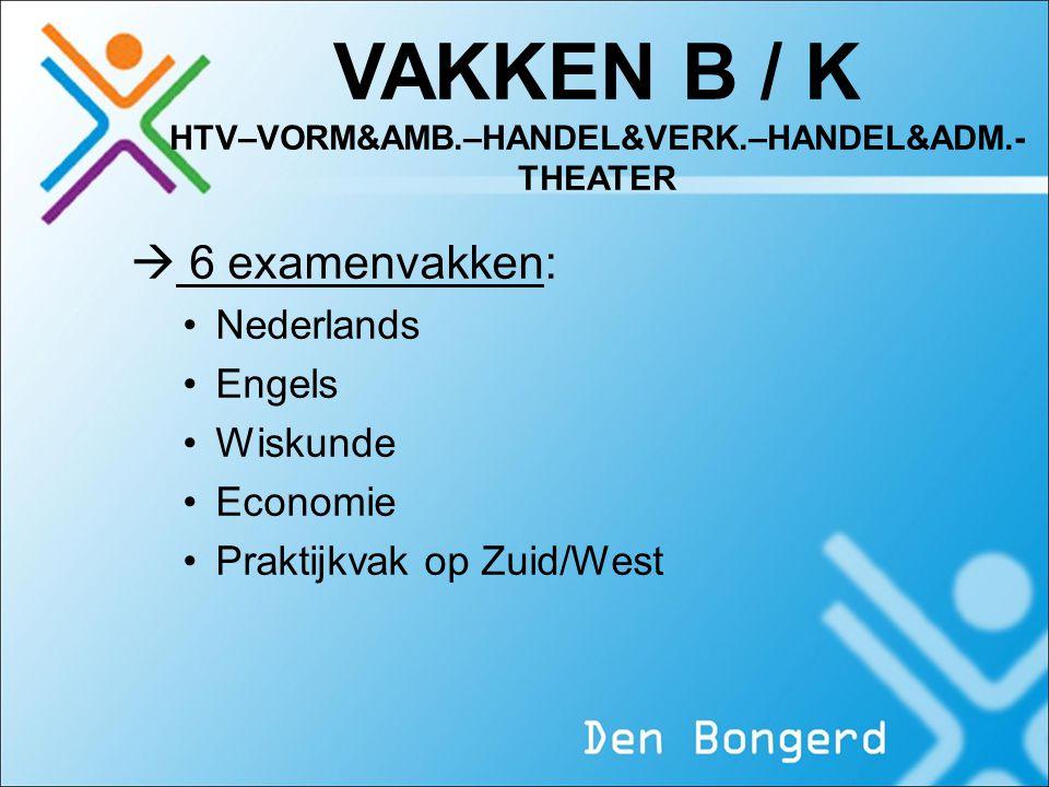 VAKKEN B / K HTV–VORM&AMB.–HANDEL&VERK.–HANDEL&ADM.-THEATER
