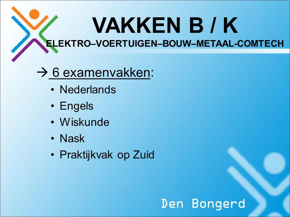 VAKKEN B / K ELEKTRO–VOERTUIGEN–BOUW–METAAL-COMTECH