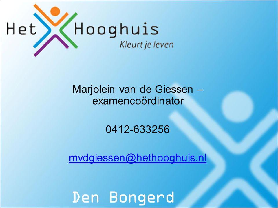 Marjolein van de Giessen – examencoördinator