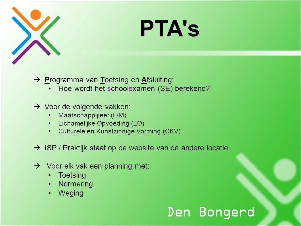 PTA s Programma van Toetsing en Afsluiting: