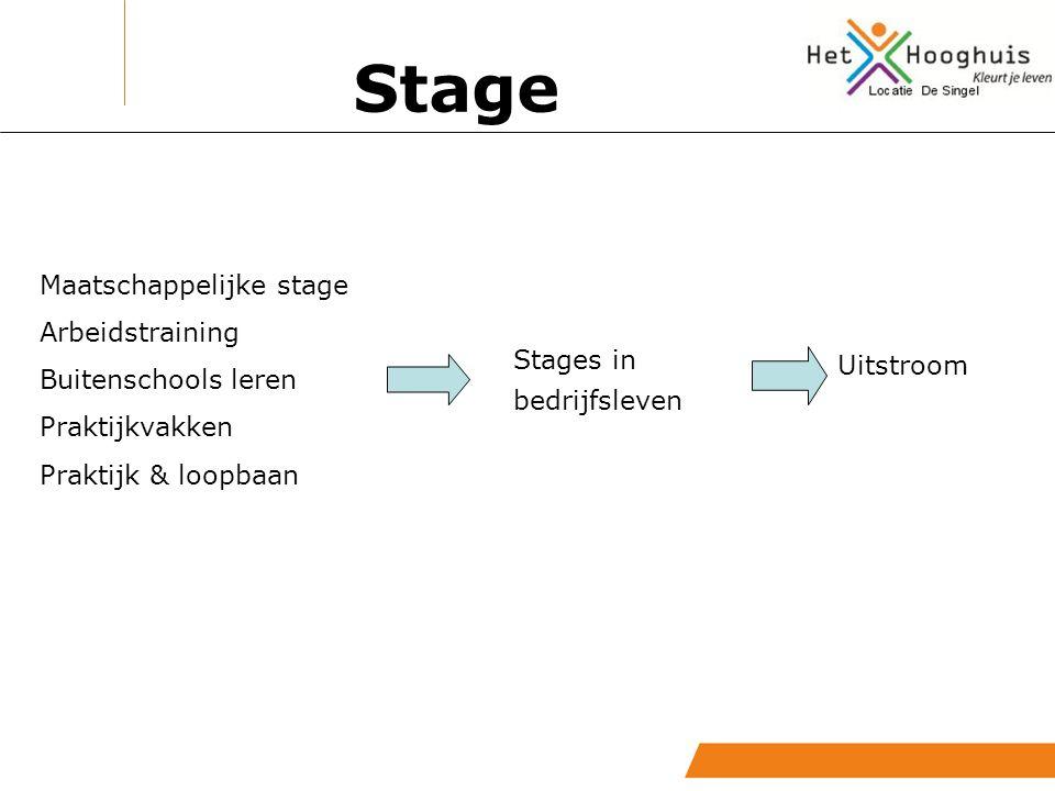 Stage Maatschappelijke stage Arbeidstraining Buitenschools leren