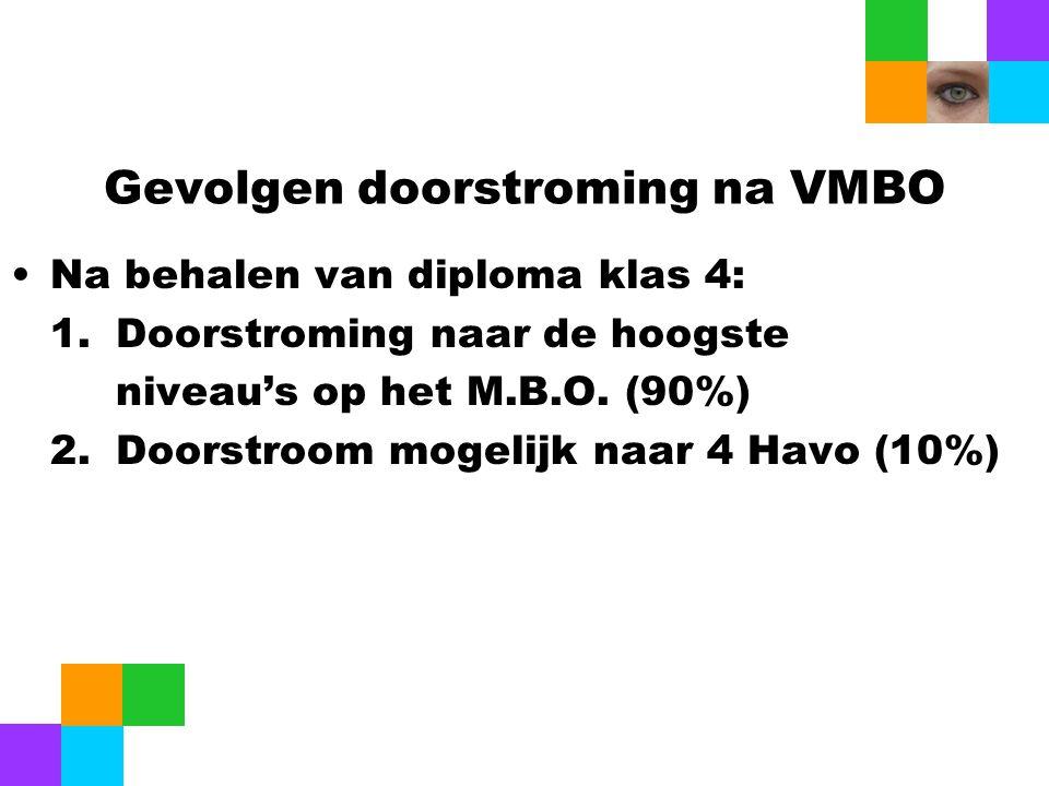 Gevolgen doorstroming na VMBO