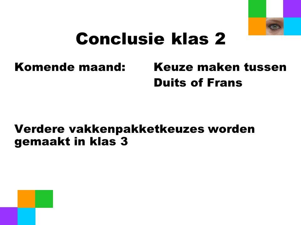Conclusie klas 2 Duits of Frans
