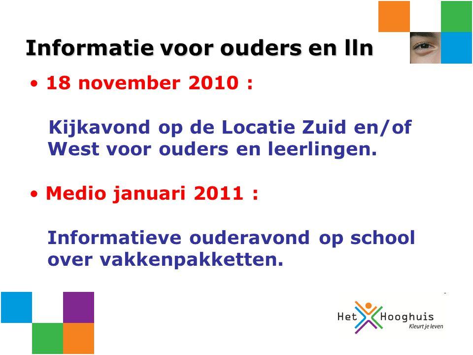 Informatie voor ouders en lln