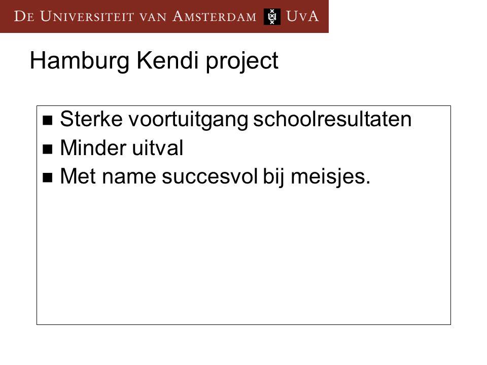 Hamburg Kendi project Sterke voortuitgang schoolresultaten