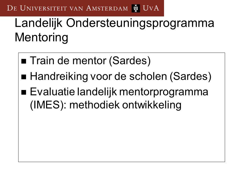 Landelijk Ondersteuningsprogramma Mentoring