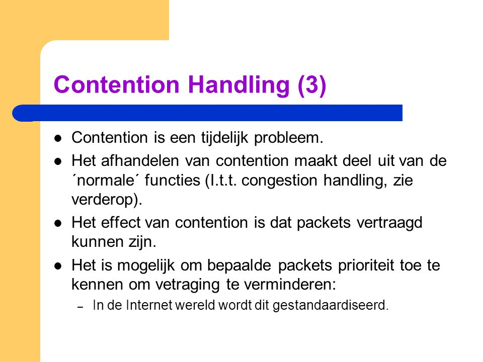 Contention Handling (3)