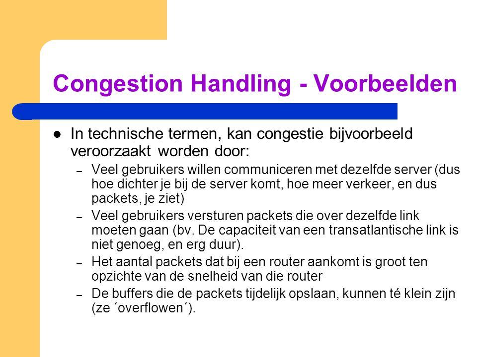 Congestion Handling - Voorbeelden
