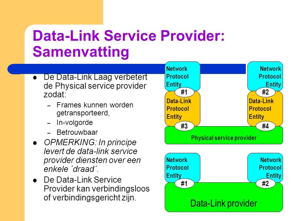 Data-Link Service Provider: Samenvatting