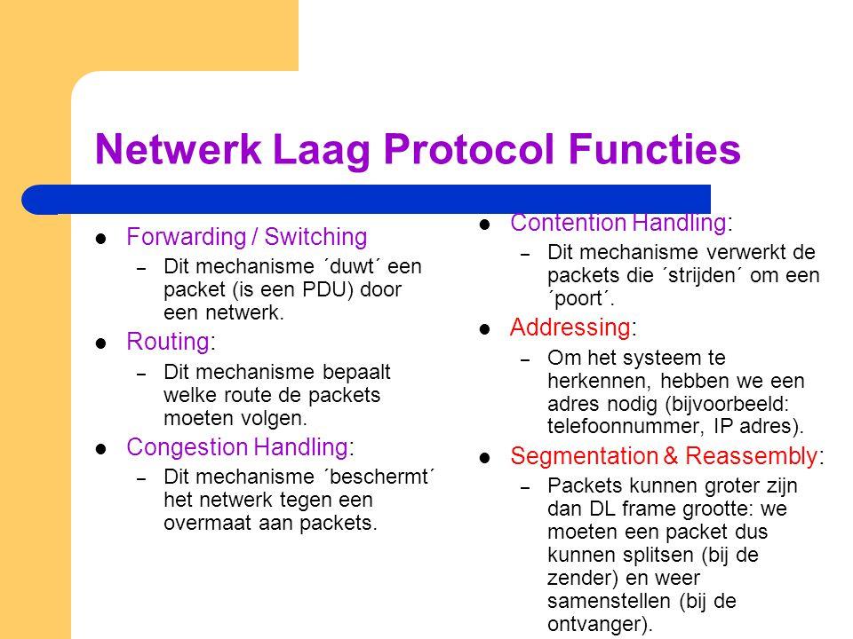 Netwerk Laag Protocol Functies
