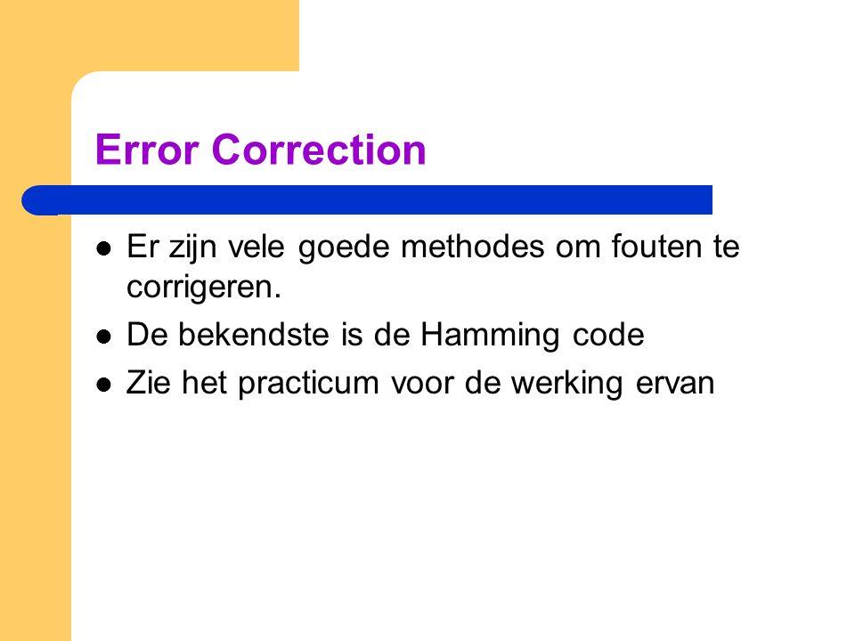 Error Correction Er zijn vele goede methodes om fouten te corrigeren.