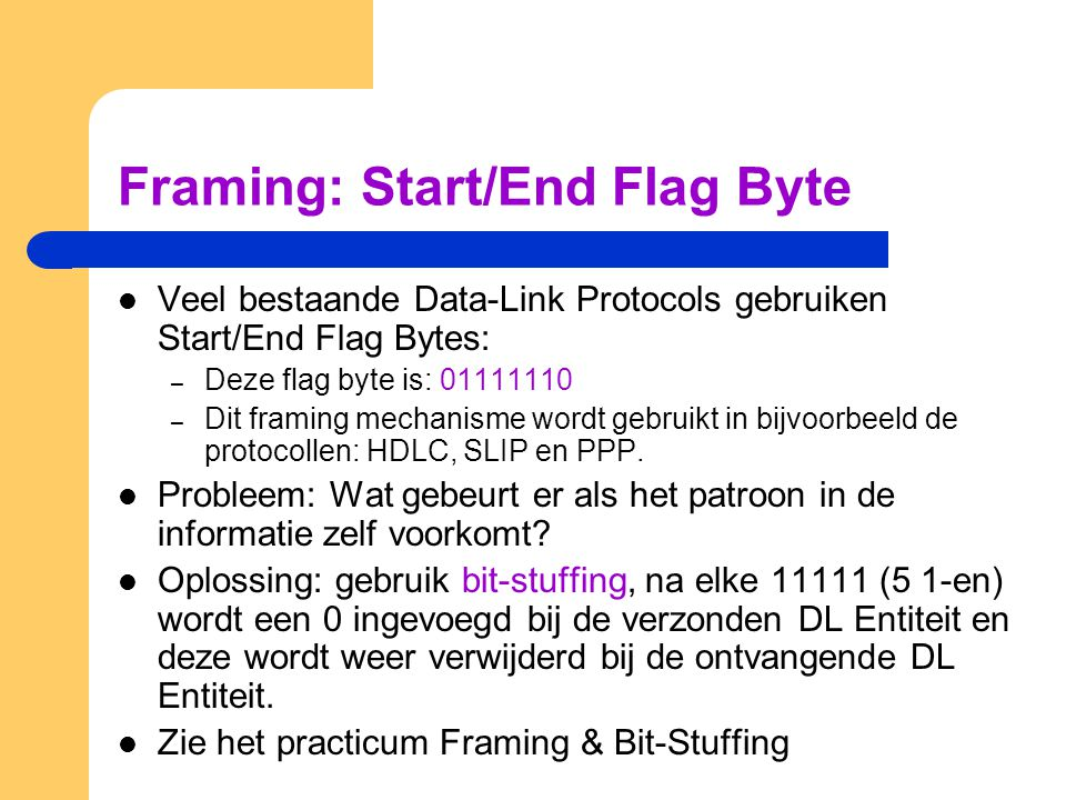 Framing: Start/End Flag Byte