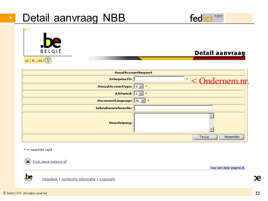 Detail aanvraag NBB < Ondernem.nr.