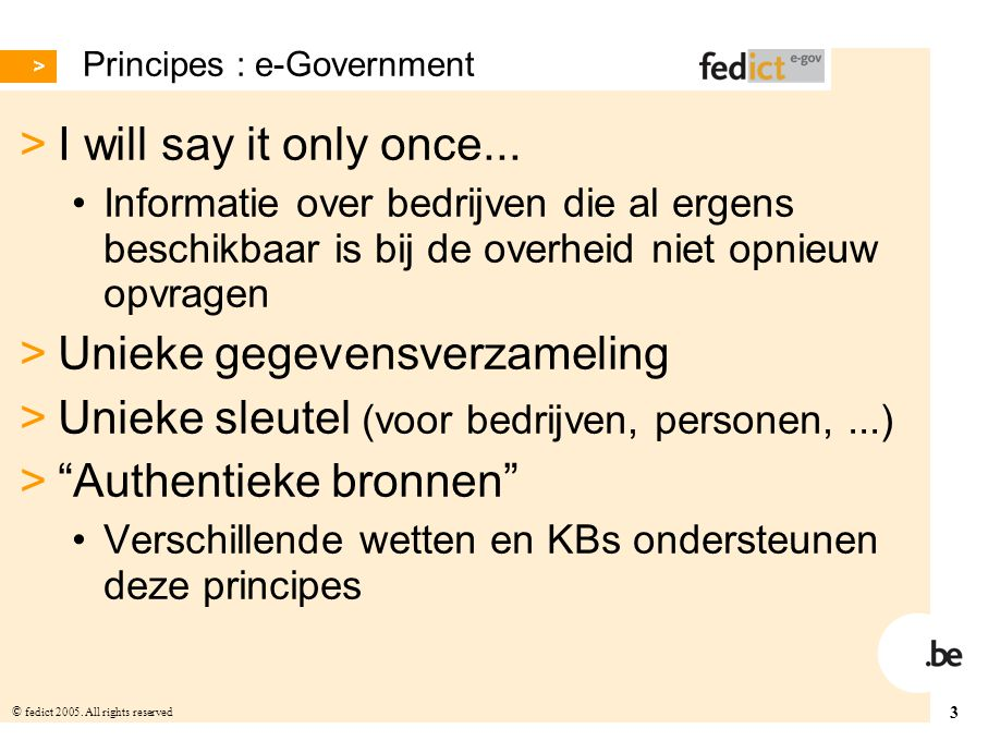 Principes : e-Government